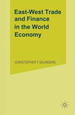 East-West Trade and Finance in the World Economy