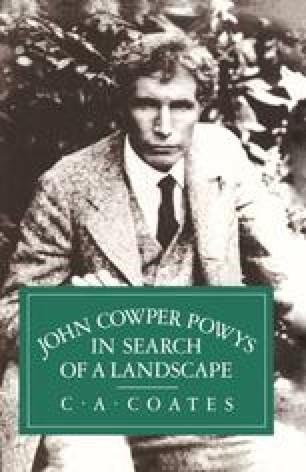 John Cowper Powys in Search of a Landscape