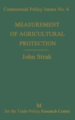 Measurement of Agricultural Protection