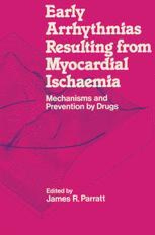 Early Arrhythmias Resulting from Myocardial Ischaemia