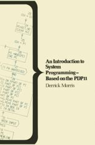 An Introduction to System Programming — Based on the PDP11