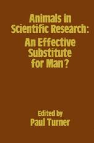 Animals in Scientific Research: An Effective Substitute for Man?