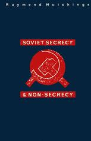 Soviet Secrecy and Non-Secrecy