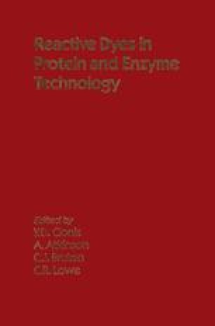 Reactive Dyes in Protein and Enzyme Technology