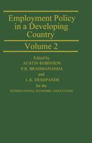 Employment Policy in a Developing Country A Case-study of India Volume 2