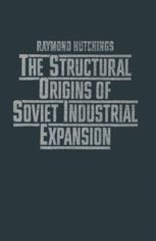 The Structural Origins of Soviet Industrial Expansion