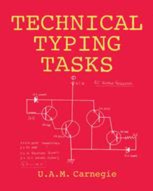Technical Typing Tasks