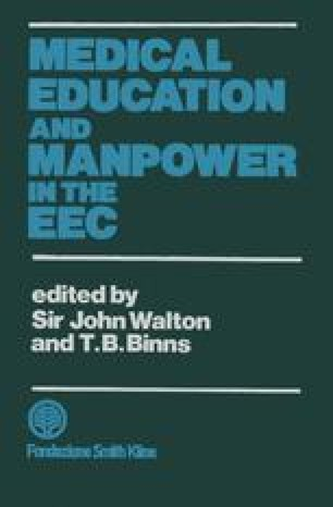 Medical Education and Manpower in the EEC