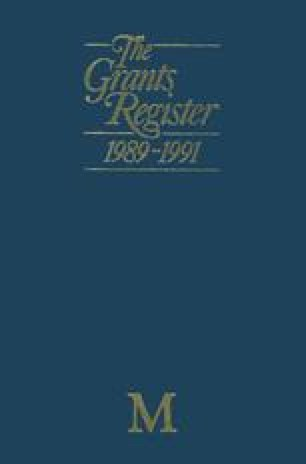 The Grants Register 1989–1991