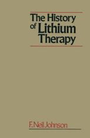 The History of Lithium Therapy