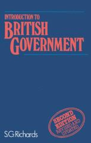 Introduction to British Government