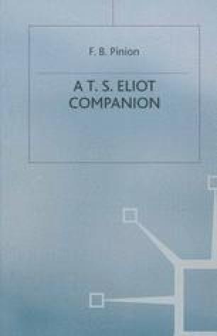 A T. S. Eliot Companion