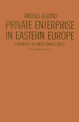 Private Enterprise in Eastern Europe