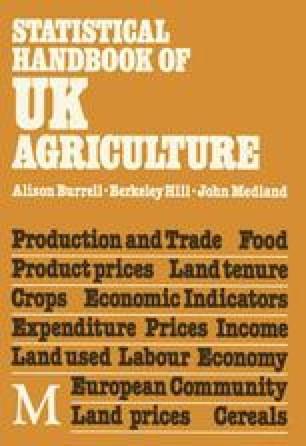 Statistical Handbook of U. K. Agriculture
