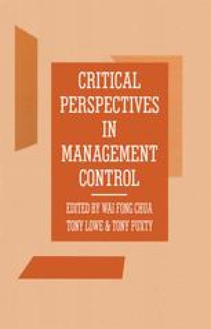 Critical Perspectives in Management Control