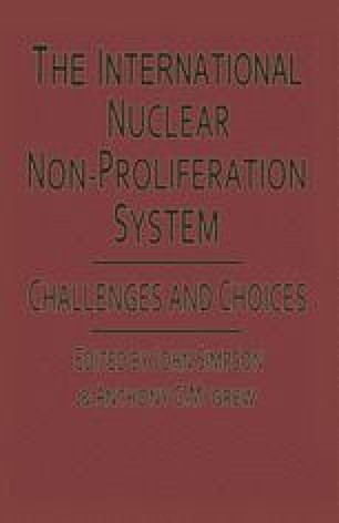 The International Nuclear Non-Proliferation System