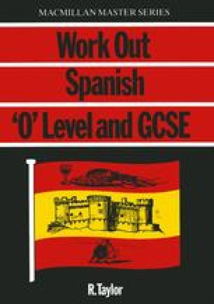 Work Out Spanish