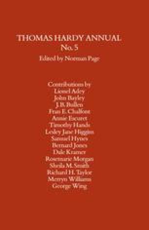 Thomas Hardy Annual No. 5