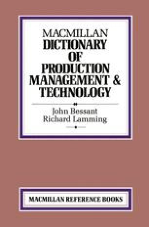 Macmillan Dictionary of Production Management & Technology