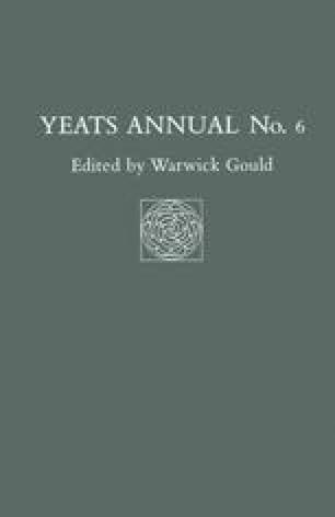 Yeats Annual