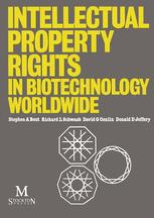 Intellectual Property Rights in Biotechnology Worldwide