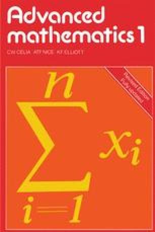 Advanced mathematics 1