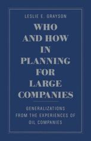 Who and How in Planning for Large Companies
