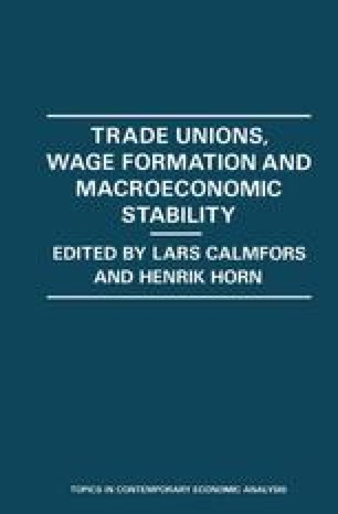 Trade Unions, Wage Formation and Macroeconomic Stability