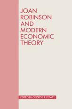 Joan Robinson and Modern Economic Theory