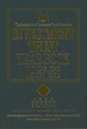 Investment Trust Year Book 1987–88