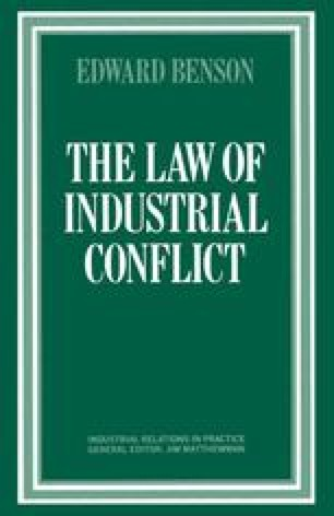 The Law of Industrial Conflict