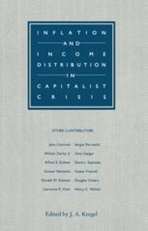 Inflation and Income Distribution in Capitalist Crisis