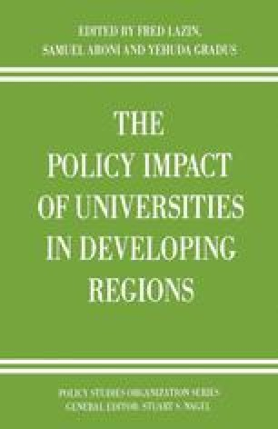 The Policy Impact of Universities in Developing Regions