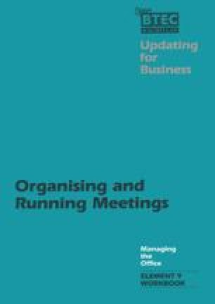 Organising and Running Meetings