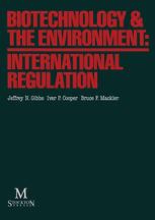 Biotechnology & the Environment: International Regulation