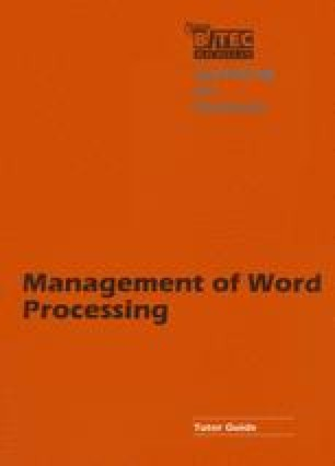 Management of Word Processing