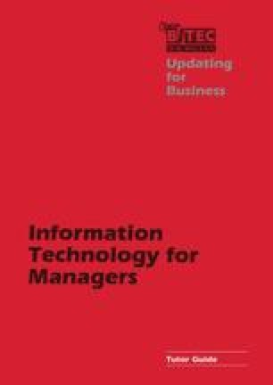 Information Technology for Managers Tutor Guide