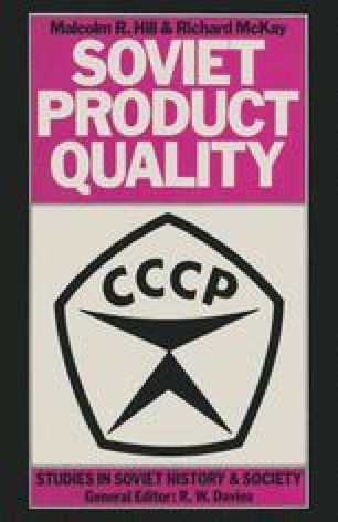 Soviet Product Quality