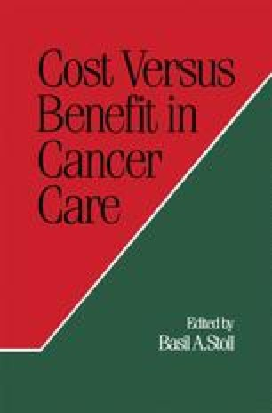 Cost Versus Benefit in Cancer Care