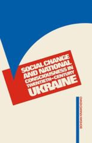 Social Change and National Consciousness in Twentieth-Century Ukraine