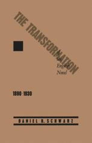 The Transformation of the English Novel, 1890–1930