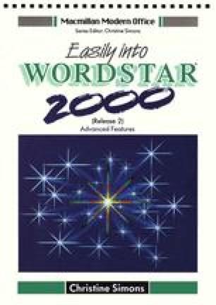 Easily into WordStar® 2000