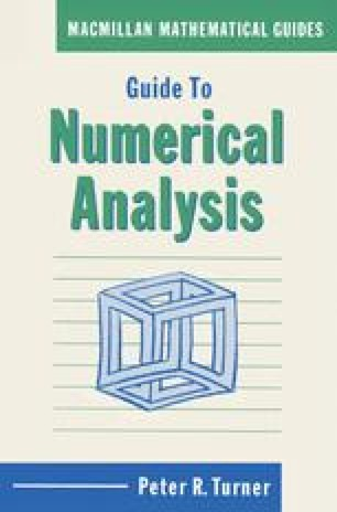 Guide to Numerical Analysis