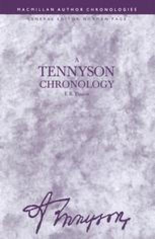 A Tennyson Chronology