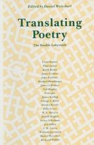 Translating Poetry