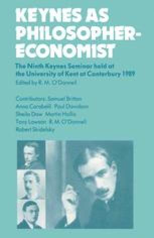 Keynes as Philosopher-Economist