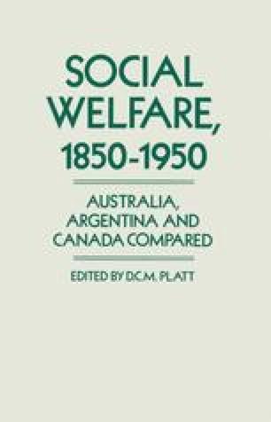 Social Welfare 1850–1950