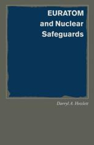 EURATOM and Nuclear Safeguards