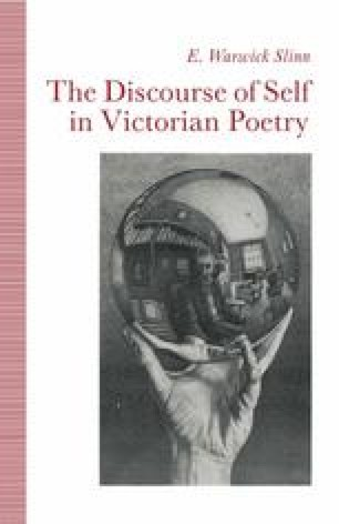 The Discourse of Self in Victorian Poetry