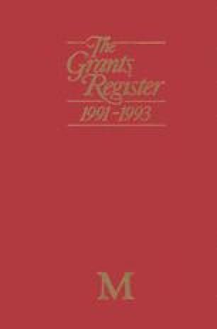 The Grants Register 1991–1993
